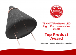 TENMAT Fire Rated LED Downlight Covers win Top Product Award